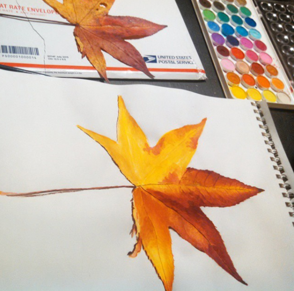 work in progress of Maple Leaf, contrast added