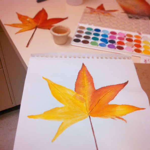 Work in progress of maple leaf