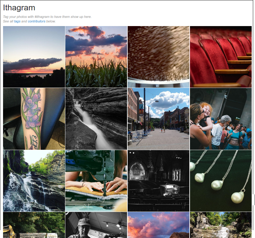 Ithagram shows the 36 most recent Instagram posts tagged #ithagram
