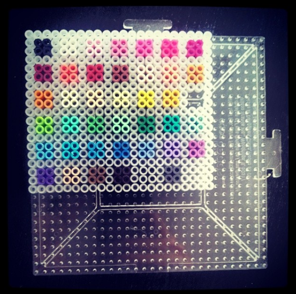 full color Perler Bead reference chart, unmelted