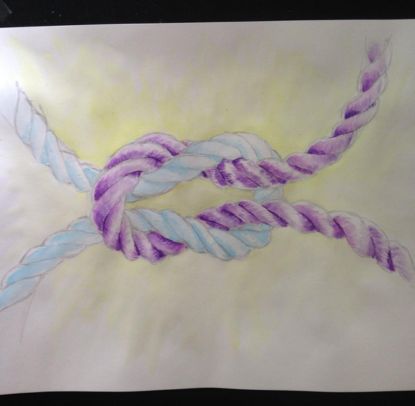 main coloring in progress, more contrast being added to purple rope